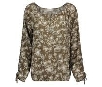 Bluse mit Allover-Muster khaki