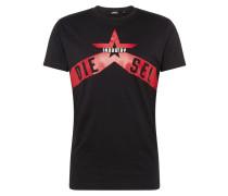 Shirt 't-Diego' rot / schwarz / weiß
