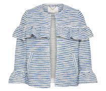 Jacke mit Volants royalblau / weiß