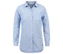 Hemdbluse 'Drina' blau / weiß