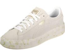 Sneaker Suede Platform Celebrate W mit Gold-Details