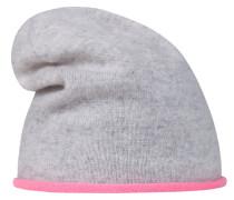 Mütze graumeliert / neonpink
