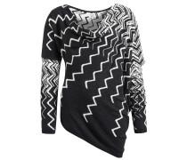 Pullover 'bill E 2' schwarz / weiß