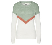 Pullover 'trip FOR Two' mint / weiß