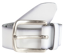 Ledergürtel mit Antik-Finish weiß