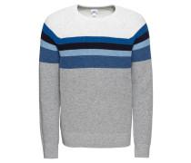 Pullover blau / grau / naturweiß