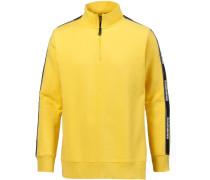 Sweatshirt gelb / schwarz / weiß