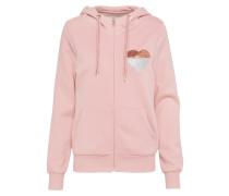 Hoodie mit Zipper rosa