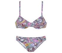 Bügel-Bikini gelb / lila / rosa