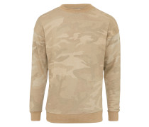 Sweater mit Crewneck sand