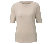 T-Shirt Meliertes T-Shirt beige