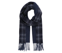 Weicher Schal blau / grau