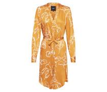 Kleid 'janja' goldgelb / weiß