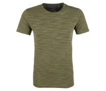 Shirt oliv / weißmeliert
