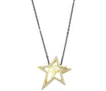 Halskette 'ubn80109' gold / schwarz