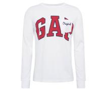 Shirt 'LS Arch PKT T' rot / weiß