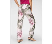 Jogger Pants beige / grün / rosa