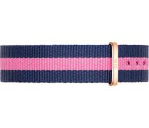 Textilband kobaltblau / pink