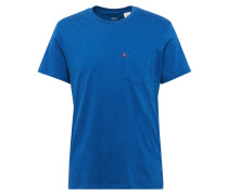Shirt mit Streifen-Design royalblau