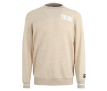 Meliertes Sweatshirt hellbeige / weiß
