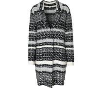 Strickjacke grau / schwarz / weiß