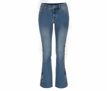 Bootcut-Jeans 'mit Stickerei' blue denim