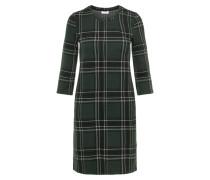 Kleid dunkelgrün / schwarz / weiß