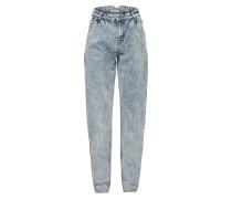 Tapered Jeans 'megan' hellblau