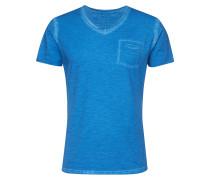 T-Shirt 'Soda' mit V-Ausschnitt blau
