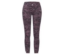 Jeans 'halle Zebra' rosa / schwarz