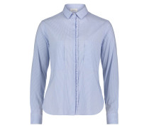 Bluse rauchblau / weiß