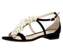 Sandale 'salvina' schwarz / weiß