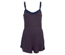 Jumpsuit 'Stripe Life' navy / rot / dunkelrot