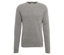 Grobstrick-Pullover mit Rippen