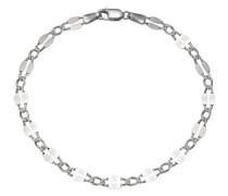 Armband silber / perlweiß