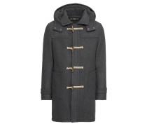 Duffle Coat mit Kapuze grau