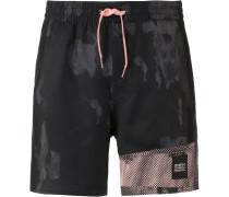 Badeshorts grau / rosa / schwarz