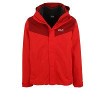 Outdoorjacke 'arland 3In1' rot