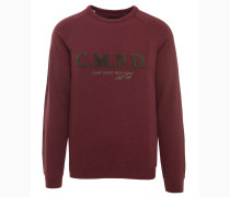 Sweatshirt kirschrot / khaki