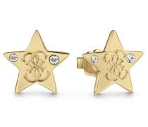 Ohrringe 'Stern' gold