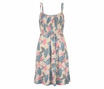Sommerkleid beige / rauchblau / rosa