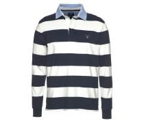 Rugbyshirt hellblau / dunkelblau / weiß