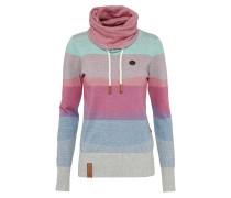 Sweater mit Schalkragen mischfarben