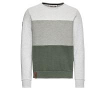 Sweatshirt grau / dunkelgrau / grasgrün