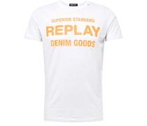 Shirt hellorange / weiß