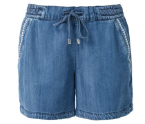 Shorts blue denim / weiß
