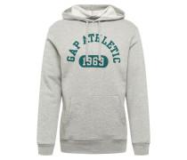 Sweatshirt 'V- Athl PO HD' grau / grün