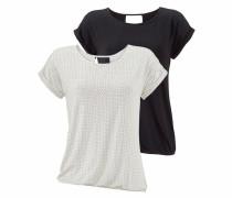 T-Shirts schwarz / offwhite