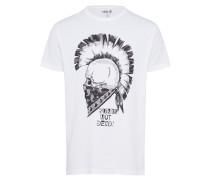T-Shirt 'Nasil' schwarz / weiß