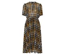 Kleid 'Brix' gelb / schwarz / weiß